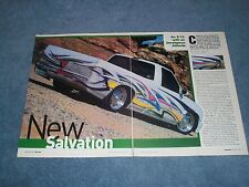 "1997 Chevy S-10 Custom Pickup Truck Article ""New Salvation"" S10 S15"