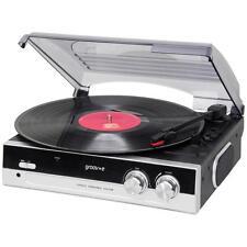 Groov e GVTT01/BK Vintage Vinyl Record Player with Built in Speakers - Black