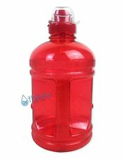 Red BPA Free Half Gallon Water Bottle Drinking Jug Canteen Sports Cap 64 oz New