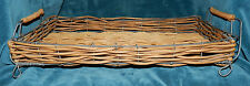 LOVELY WOOD TWIG/WIRE SERVING TRAY!! GARDEN