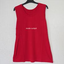 BORIS INDUSTRIES   Long Top Shirt  Basic Tunika rot Viskose 46 (4)