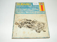 Haynes 1971- 1979 Subaru 1100 1300 1400 1600 Repair Manual