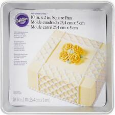 "Wilton Aluminum Performance Cake Pan 10x2"" Square Kitchen Baking Even-Heating"