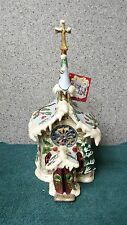 Silent Night Church Candle House t-lite holder music box by Heather Goldminc