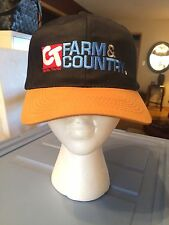 CT Farm & Country~Hat~Black~Central Tractor~Embroidered~Snap Back~Vintage~1990's