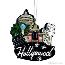 Hollywood Christmas Ornament, Skyline and Landmarks Hollywood Cutout Resin