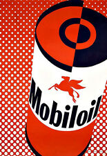 Art Ad Mobil Oil  Deco Auto Car Poster Print