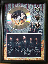 Black Veil Brides Platinum Look CD, Autograph & Plectrum Display