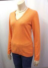 NEU BRUNELLO CUCINELLI Designer Pullover Gr.M 100% Kaschmir Cashmere Orange 2483