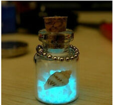 Glow in the Dark Lucky Sand Mini Glass Wishing Bottle Cell phone Pendant Chain