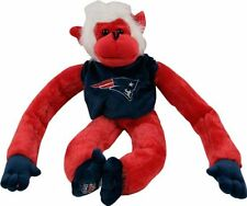 New England Patriots NFL 18'' Tall Red Team Plush Jersey Monkey