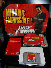 Mission: Impossible (Nintendo 64 1998) COMPLETE & TESTED-Game-Box-Manul-SEE PICS