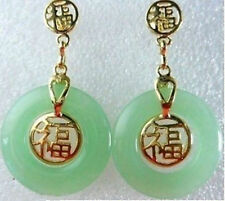 Jewellery Green Jade Fortune Earrings