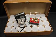 Silver Half Dollar Storage Box Tube Collector Kit Microscope Magnifier 28 Tubes