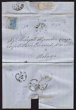STORIA POSTALE Regno 1871 Piego da Barrafranca per Modena (FSQ)