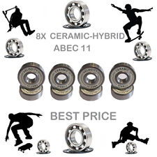 8 Precision Abec 11 hybrid ceramic bearings skate inline Skateboard scooter 9
