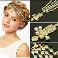US-Party Queen Metal Rhinestone Head Chain Jewelry Headband Head Piece Hair band