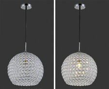 Single Head Crystal Ceiling Light Silver Pendant Lamp Living Room Chandelier