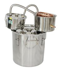 NEW 18L Copper Alcohol Moonshine Still Spirits Water Distiller +Thumper Keg