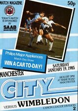 1984/85 Manchester City v Wimbledon, Division 2, PERFECT CONDITION