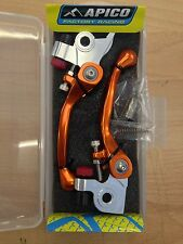 KTM  EXC  250  300  2014-2017    FLEXI  FLEXIBLE LEVER LEVERS SET PAIR ORANGE