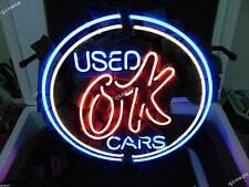 "17X14 New Used OK Cars"" Autos Dealer Decor Neon Sign Bar Beer Light FAST SHIP"