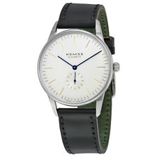 Nomos Orion 38 White Dial Stainless Steel Mens Watch 384