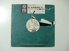 "2 Fabiola ‎– Play This Song- Disco Mix 12""  Vinile ITALIA 1995 Progressive House"