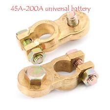 1Par Coche Terminal Cobre Pinzas batería clips bornas Conector Negativo Positivo