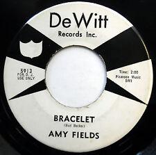 AMY FIELDS 45 Bracelet / At The Party PROMO Teen R&B Bopper DeWITT 1963 w5911