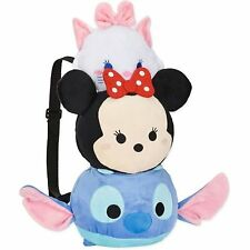 Disney Tsum Tsum Stitch Minnie Marie 19 Inches Plush Backpack- Licensed product