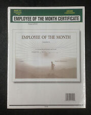 Employee of the Month Certificate 8 Certificates Pre Printed