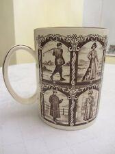 """AQUASCUTUM 5"""" TANKARD - 12 VINTAGE FASHION CLOTHING SCENES mug"""