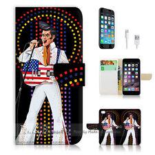 iPhone 7 (4.7') Flip Wallet Case Cover P1414 Elvis Presley
