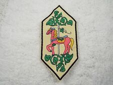"Pink Carousel Horse Ivy 7"" Embroidery Iron-on Applique Patch (E4)"