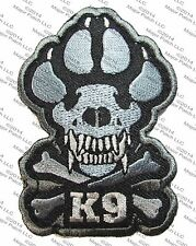 K9 TACTICAL JAWS CROSSBONES ATTACK DOGS WAR BADGE MORALE VELCRO MILITARY PATCH