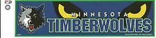 MINNESOTA TIMBERWOLVES NBA LICENSED BUMPER STICKER NEW
