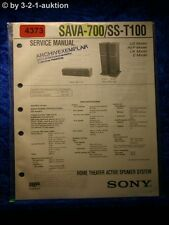 Sony Service Manual SAVA 700 /SS T100 Active Speaker System (#4373)