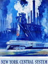 ADVERT NEW YORK CENTRAL SYSTEM TRAIN INDUSTRIAL PAINTING ART POSTER PRINT LV228