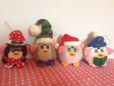 1999 LITTLE FURBY XMAS ORNAMENTS-TIGER ELECTRONICS /Set Of Four