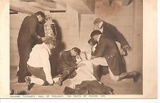MADME TASSAUDSHALL OF TABLEAUX THE DEATH OF NELSON 1805 PICTURE POSTCARDS  1920