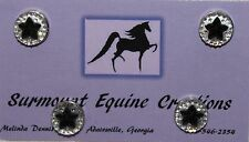Horse Show Number Magnets - Black Star - Saddleseat, Hunt Seat, Western