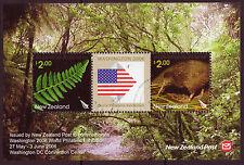 NEW ZEALAND 2006 WASHINGTON EXHIBITION MINIATURE SHEET FINE USED