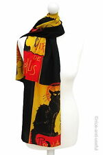 Seidenschal CHAT NOIR Black Cat Schal Seide * STEINLEN * hochwertig EDEL
