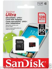 NEW Sandisk 128GB Ultra Micro SD Card SDXC Memory Card Class 10 UHS-I 80MB/s-HD