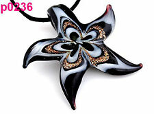 New Fashion Women's Starfish lampwork art glass beaded pendant necklace