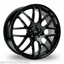 "18"" BLACK DTM ALLOY WHEELS FITS MITSUBISHI RENAULT MEGANE 5X114 MODELS"