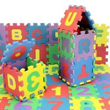 36pcs Unisex Mini Puzzle Kid Educational Toy Alphabet Letters Numeral Foam Mat F