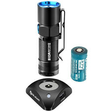 USB Charging LED Flashlight Olight S10R II Dock 500LM Cree XP-L Torch + Battery