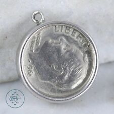 Vintage Sterling Silver | The Price Of A Call Dime Coin 5.5g | Charm Pendant